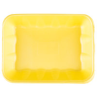 Genpak 1020K (#20K) Foam Meat Tray Yellow 11 7/8 inch x 8 3/4 inch x 2 1/2 inch - 100/Case
