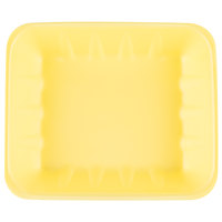 Genpak 1022K (#22K) Foam Meat Tray Yellow 12 1/4 inch x 10 1/4 inch x 2 7/8 inch - 100/Case