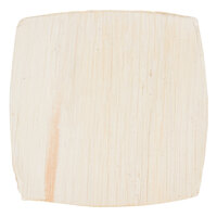 EcoChoice 4 inch Square Coupe Palm Leaf Plate - 25 / Pack