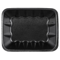 Genpak 1042 (#42) Foam Meat Tray Black 8 5/8 inch x 6 1/2 inch x 2 3/8 inch - 250/Case