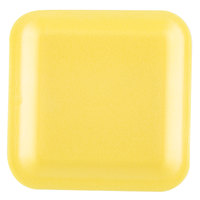 Genpak 1001S (#1S) Foam Meat Tray Yellow 5 1/4 inch x 5 1/4 inch x 1/2 inch - 1000/Case