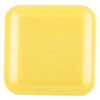 Genpak 1001S (#1S) Yellow 5 1/4 inch x 5 1/4 inch x 1/2 inch Foam Supermarket Tray - 1000 / Case