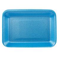 CKF 88002 (#2) Blue Foam Meat Tray 8 1/4 inch x 5 3/4 inch x 3/4 inch - 500/Case