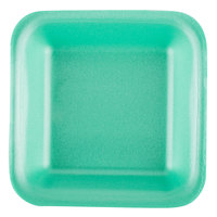 Genpak 1501 (#1) Foam Meat Tray Green 5 1/4 inch x 5 1/4 inch x 1 inch - 500/Case