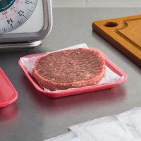 CKF 88061 (#1S) Rose Foam Meat Tray 5 1/4 inch x 5 1/4 inch x 1/2 inch   - 1000/Case