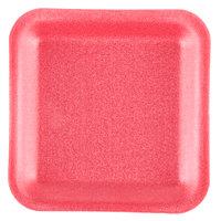Genpak 1001S (#1S) Foam Meat Tray Rose 5 1/4 inch x 5 1/4 inch x 1/2 inch   - 1000/Case