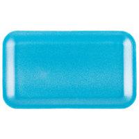 Genpak 1017S (#17S) Foam Meat Tray Blue 8 1/4 inch x 4 3/4 inch x 1/2 inch - 125/Pack