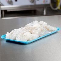 Genpak 1017S (#17S) Blue Foam Meat Tray 8 1/4 inch x 4 3/4 inch x 1/2 inch - 125/Pack