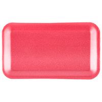 Genpak 1017S (#17S) Foam Meat Tray Rose 8 1/4 inch x 4 3/4 inch x 1/2 inch - 125/Pack