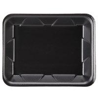 Genpak 1004D (#4D) Foam Meat Tray Black 9 1/4 inch x 7 1/4 inch x 1 1/4 inch - 125/Pack