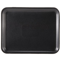Genpak 1008S (#8S) Black 10 1/4 inch x 8 1/4 inch x 1/2 inch Foam Supermarket Tray - 125 / Pack