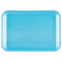 Genpak 1002S (#2S) Foam Meat Tray Blue 8 1/4 inch x 5 3/4 inch x 1/2 inch - 125/Pack