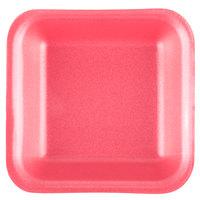 Genpak 1001 (#1) Rose 5 1/4 inch x 5 1/4 inch x 1 inch Foam Supermarket Tray - 125/Pack
