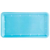 Genpak 1025S (#25S) Foam Meat Tray Blue 8 inch x 14 3/4 inch x 1 1/16 inch - 125/Pack