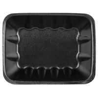Genpak 1042 (#42) Foam Meat Tray Black 8 5/8 inch x 6 1/2 inch x 2 3/8 inch - 63/Pack