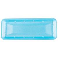 Genpak 1007S (#7S) Foam Meat Tray Blue 14 7/16 inch x 5 3/4 inch x 15/16 inch - 125/Pack