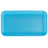 CKF 88010 (#10S) Blue Foam Meat Tray 10 3/4 inch x 5 3/4 inch x 1/2 inch - 125/Pack