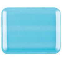 Genpak 1004S (#4S) Foam Meat Tray Blue 9 1/4 inch x 7 1/4 inch x 1/2 inch - 125/Pack