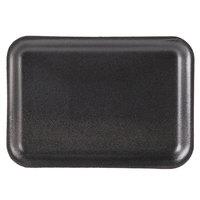 Genpak 1002S (#2S) Foam Meat Tray Black 8 1/4 inch x 5 3/4 inch x 1/2 inch - 125/Pack