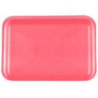 CKF 88062 (#2S) Rose Foam Meat Tray 8 1/4 inch x 5 3/4 inch x 1/2 inch - 250/Pack