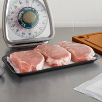 CKF 87810 (#10S) Black Foam Meat Tray 10 3/4 inch x 5 3/4 inch x 1/2 inch - 125/Pack