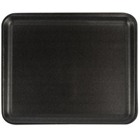 CKF 87812 (#12S) Black Foam Meat Tray 11 inch x 9 inch x 1/2 inch - 125/Pack