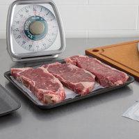 CKF 87812 (#12S) Black Foam Meat Tray 11 inch x 9 inch x 1/2 inch - 125/Pack