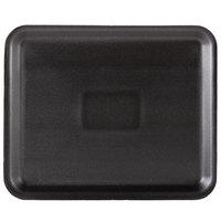 Genpak 1012S (#12S) Foam Meat Tray Black 11 1/4 inch x 9 1/4 inch x 1/2 inch - 125/Pack