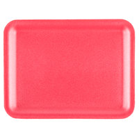 CKF 88070 (#20S) Rose Foam Meat Tray 8 3/4 inch x 6 1/2 inch x 3/4 inch - 125/Pack