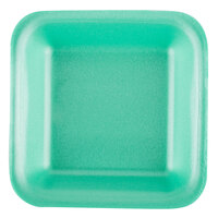 Genpak 1501 (#1) Foam Meat Tray Green 5 1/4 inch x 5 1/4 inch x 1 inch - 125/Pack