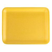 CKF 87934 (#34/4S) Yellow Foam Meat Tray 9 1/4 inch x 7 1/4 inch x 1/2 inch - 125/Pack