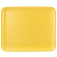 CKF 87912 (#12S) Yellow Foam Meat Tray 11 inch x 9 inch x 1/2 inch - 125/Pack