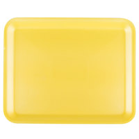 Genpak 1012S (#12S) Foam Meat Tray Yellow 11 1/4 inch x 9 1/4 inch x 1/2 inch - 125/Pack