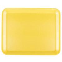 Genpak 1012S (#12S) Yellow 11 1/4 inch x 9 1/4 inch x 1/2 inch Foam Supermarket Tray - 125 / Pack