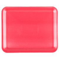 Genpak 1012S (#12S) Foam Meat Tray Rose 11 1/4 inch x 9 1/4 inch x 1/2 inch - 125/Pack
