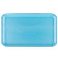 Genpak 1016S (#16S) Foam Meat Tray Blue 12 1/4 inch x 7 1/4 inch x 1/2 inch - 125/Pack