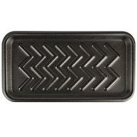 CKF 87825 (#25S) Black Foam Meat Tray 15 inch x 8 inch x 5/8 inch - 125/Pack