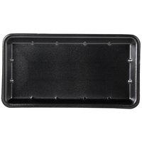 Genpak 1025S (#25S) Foam Meat Tray Black 8 inch x 14 3/4 inch x 1 1/16 inch   - 125/Pack