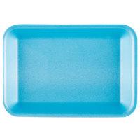 Genpak 1002 (#2) Foam Meat Tray Blue 8 1/4 inch x 5 3/4 inch x 1 inch - 125/Pack