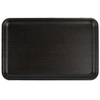 CKF 87816 (#16S) Black Foam Meat Tray 11 3/4 inch x 7 1/2 inch x 5/8 inch - 125/Pack