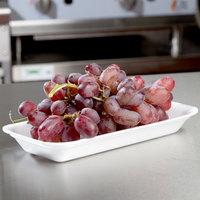 Genpak 101.5 (#1.5) White Foam Meat Tray 8 3/8 inch x 3 7/8 inch x 7/8 inch - 125/Pack