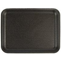 CKF 87820 (#20S) Black Foam Meat Tray 8 3/8 inch x 6 1/2 inch x 3/4 inch - 125/Pack