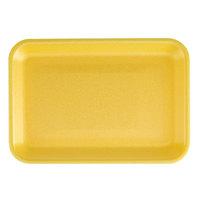 CKF 87903 (#2S) Yellow Foam Meat Tray 8 1/4 inch x 5 3/4 inch x 1/2 inch - 250/Pack