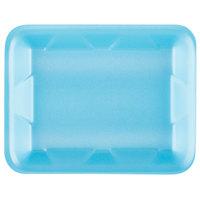 Genpak 1004D (#4D) Foam Meat Tray Blue 9 1/4 inch x 7 1/4 inch x 1 1/4 inch - 125/Pack