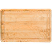 Tablecraft CBW241615 24 inch x 16 inch x 1 1/4 inch Wood Grooved Cutting Board