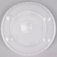 Dart Solo L12BLN-0100 12 oz. Translucent Flat Plastic Lid with Straw Slot and Identification Buttons - 2000/Case