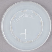 Solo L7N-0100 7 oz. Translucent Flat Plastic Lid with Straw Slot - 2000/Case