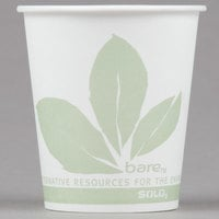 Bare by Solo 44BB-JD110 Eco-Forward 3 oz. Wax Treated Printed Paper Cold Cup - 5000/Case