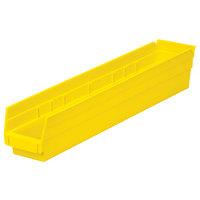Metro MB30124Y Yellow Nesting Shelf Bin 23 5/8 inch x 4 1/8 inch x 4 inch
