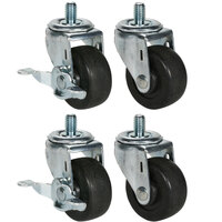 Beverage Air 00C31-041A Equivalent 3 inch Replacement Casters - 4 / Set